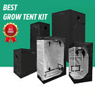 Indoor Plant Growth Tent Hydroponics Professional 600D Mylar Grow Room 4 Sizes
