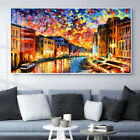 Leonid Afremov Abstract Oil Painting Venice City Canvas Wall Art Picture Print