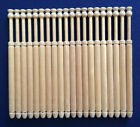 10 Pairs of Wooden Lacemaking Bobbins by Harlequin Lace