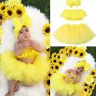 Newborn Infant Baby Girl Outfits Clothes Off Shoulder Tops Tutu Tulle Skirt Set
