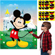 PANTIDE Pin The Nose and Mouth on Mickey Mouse Party Games for Kids, Mickey Mous