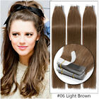 Super Glue Seamless Tape In 100% Remy Human Hair Extensions Thick 60pc 150g B107