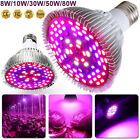 8W-80W 18-120LEDs E26 E27 Grow Lighting Lamps Blubs For Plants Flowers Indoor