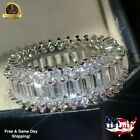 4 Styles 925 Silver Rings Women White Sapphire Wedding Engagement Ring Size 6-10