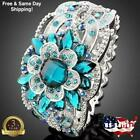 925 Silver Rings Women Emerald Fashion Wedding Engagement Ring Jewelry Size 6-10