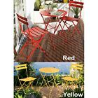 2 Person Outdoor Bistro Set Steel Table Chairs Garden Patio Folding Furniture
