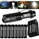Tactical 5 Modes Zoomable T6 Flashlight Torch Light  3.7V Rechargeable Battery