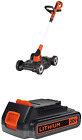 BLACK+DECKER 3-in-1 Lawn Mower with Extra Lithium Battery 2.0 Amp Hour (MTC220 &