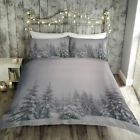 Fusion Starry Night Christmas Reversible Duvet Cover Set, Grey