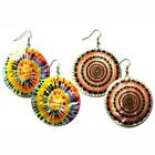 Tie Die Design Costume Pierce Earrings 2 PAIR DEAL 324