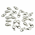 Sterling Silver PEAR Lobster 9mm Clasps CLOSED Ring Beading Wire No Slip
