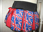 New Girls Black blue red white Union Jack Team GB Pleated Skirt Party England
