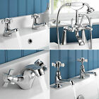 Traditional Hastings Luxury Bathroom Taps Basin Mixer Chrome Shower Bath Filler