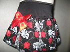 Punk,Rock,Black,White,Red Skulls,Roses  Skirt-All sizes