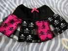 Baby Girl Black,White, skulls,cherry, Skirt 0-3,newborn