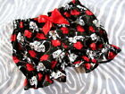 New Baby Girls Black Red White Skulls Roses Frilly Knickers Bloomers Pantaloons