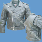 MENS BUFFALO LEATHER BIKER MOTORCYCLE JACKET Z/O LINER