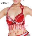 #T049 belly dance costume Top braUS Size 32-34B/C