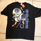 Indianapolis Colts Side View BLACK SS Adult T-shirt