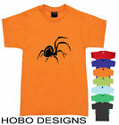 Spider T-Shirt Childrens kids Hobo Funky Retro Tee Cute size top RED BACK AUSSIE