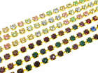 Austrian Crystal Rhinestone Chain - 3mm Light Multi or Dark Multi 3 Feet