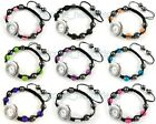 New Watch Disco Ball Macrame Adjustable Bracelet . Choose Colours freeship wz21
