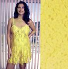 Plus Size Lingerie 1X 2X 3X or 4X  Yellow Floral Lace Chemise 2592X