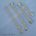 GOLD-PLATED /Tone Safety or EXTENDER CHAIN Custom Handmade Your Style/Length B3L