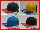 FREE UK P/P - City Hunter USA Retro 2 Tone Flat Peak SNAPBACK Baseball Cap Hat