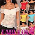 NEW SEXY WOMENS LADIES TOP SIZE 6-8-10 PARTY CASUAL WEAR WHITE BLACK RED PINK