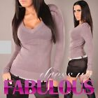 NEW SEXY SIZE 8-10-12 WOMEN'S LADIES CASUAL PARTY JUMPER SWEATER TOP BLACK GREY