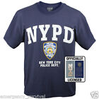 NYPD 9-11 New York City Police Department Navy Blue Shield T-Shirt FREE SHIPPING