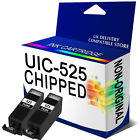 2 Black NON-OEM PGI-525BK Ink Cartridge Replace for Pixma Inkjet Printers