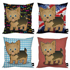 STYLISH YORKSHIRE TERRIER DOG CUSHION VARIOUS DESIGNS YORKIE DOG LOVER GIFT IDEA