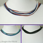 Custom MULTI-STRAND 3 mm Suede Lace Cord Necklace / Choker YOUR Length / Colors+