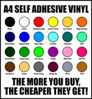 A4 Self Adhesive Vinyl for Sign Making and Crafts - Packs of 5, 10, 20, 50 & 100