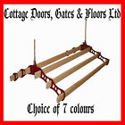 cottage maid ®  - six pine lath clothes airer dryer pulley kitchen rack