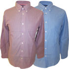 Ben Sherman Long Sleeve Shirt Button Down Collar Thin Stripe Blue or Pink