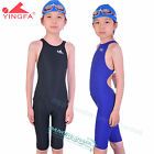 YINGFA girls racing sharkskin kneeskin swimwear competition siwmsuit 925