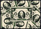 Benjamin Franklin Modern Money Area Rug Green Hundred Dollar Bill Carpet