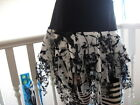 New Girls Black White Velvet Lace Mesh tatty Skirt Punk Witchy Goth Halloween