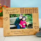 Personalized Worlds Coolest Picture Frame Engraved Uncle or Dad Photo Frame Gift