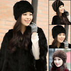 NEW Cute Form genuine farms mink fur pineapple hat headdress cap headgear Top