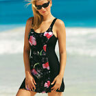 La Isla Women's One Piece Swimwear Floral Print Swimsuit  Beachwear with Skirt