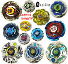 Beyblade Metal masters Rapidity 4D system top & ZERO-G top & Launcher lot style
