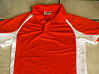 Orange w/ White Coaches Polo Adult Shirt