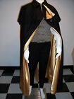 OPERA Cape Black Wool with Capelet S to XL lining color choice Wedding Handmade