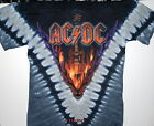 "AC/DC ""HELLS BELLS "" BACK IN BLACK 2-SIDED TIE DYE T-SHIRT NEW DESIGN"