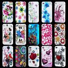 NEW STYLISH FLOWERS SERIES GEL CASE COVER  FITS IPHONE 4 4S & FREE SCREEN GUARD