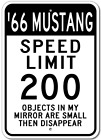 1966 66 FORD MUSTANG Aluminum Speed Limit Sign